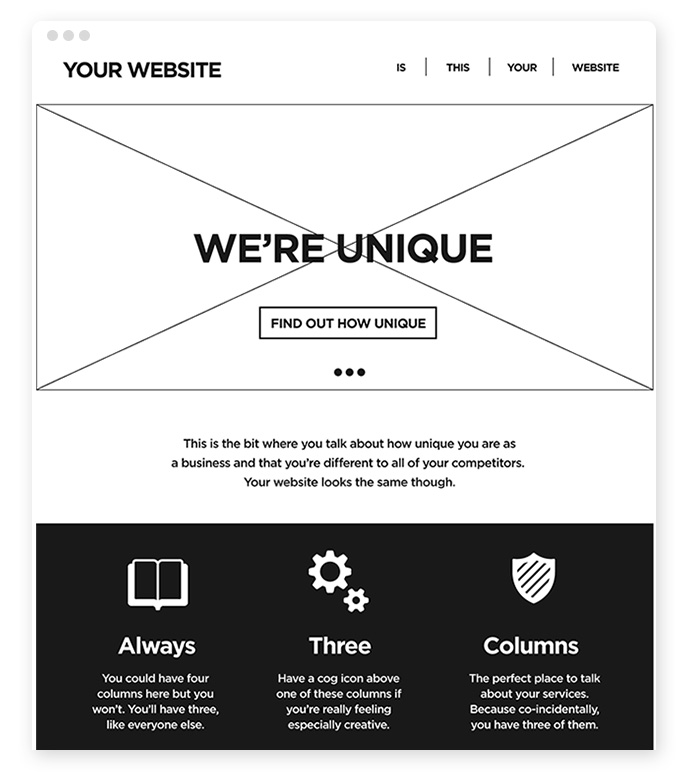webdesign-standard-layout